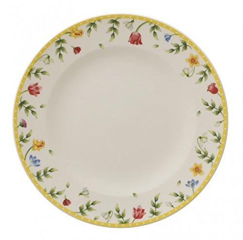 Villeroy & Boch Spring Awakening Assiette petit-déjeuner gazon fleurs, Premium porcelaine, multicolore