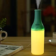Ubegood USB Botella del Humidificador Aromaterapia Aire Purificador con la Noche Light del difusor para la Oficina, Hogar( Azul)