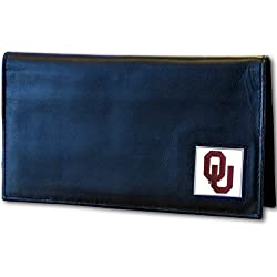 Oklahoma Sooners Leather Checkbook Cover