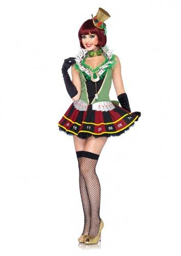 Leg Avenue 85042 - Lucky Lady Roulette-Rad Kostüm, Größe L, multicolor