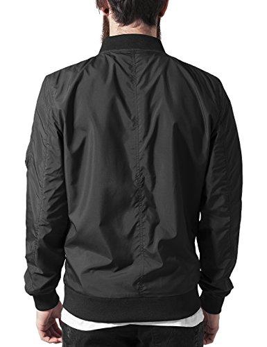 Urban Classics Light Bomber Jacket, Blouson Homme Noir - Noir (7)