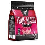 BSN True Mass 1200 Weight Gainer Eiweißmischung Pulver (enthält Whey, Casein, Glutamin und Kohlenhydrate (Hafermehl), Protein Shake von BSN) strawberry milkshake, 15 Portionen, 4,73kg