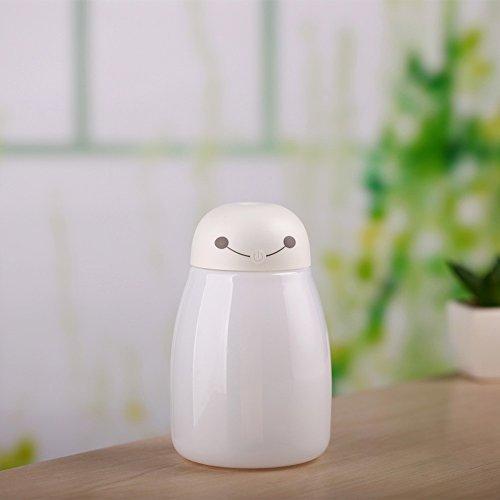 Preisvergleich Produktbild Neue Weie Usb Luftbefeuchter Kreative Bunte Nacht Licht Aroma Nachfüllfunktion Ultraschall Luft Zerstuber,Weiß