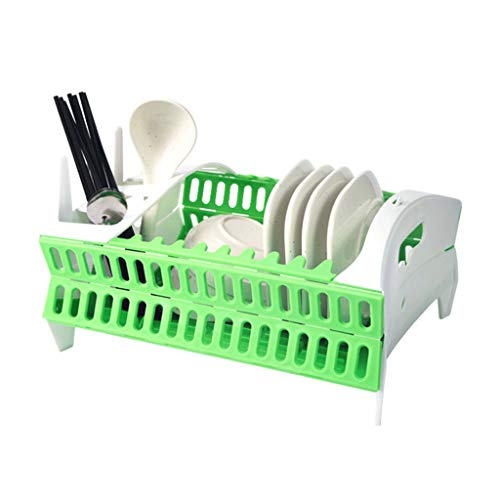 Adoudou Dish Rack Multifunktion Fold Tableware Rack Rack Rack Kitchen Bowl Dish Plate Shelf Wasserfilter-Korb Wasserfilter Korb Rack