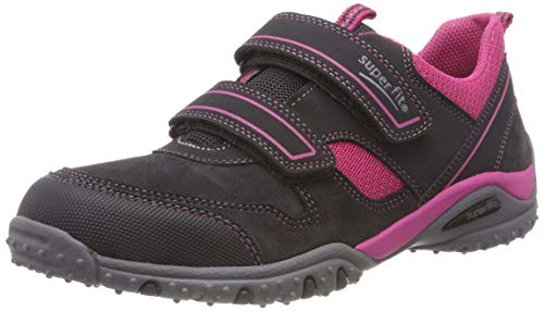 Superfit Mädchen SPORT4 Sneaker, Grau (Grau/Rot 22), 33 EU