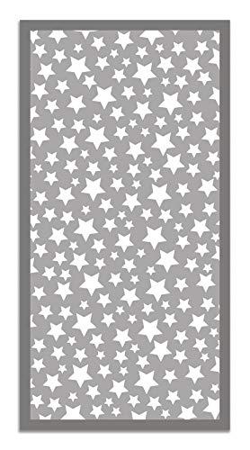 Panorama Alfombra Vinílica Estrellas Color Gris 60 x 110 cm - Alfombra Cocina Vinilo - Alfombra Salón...