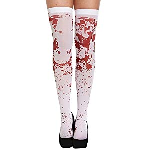 White Bloody Hold Up Stockings
