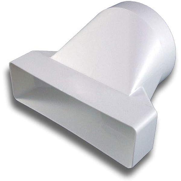 Adaptateur de raccordement en PVC plat//carr/é  Syst/ème 125 /à /Ø 125