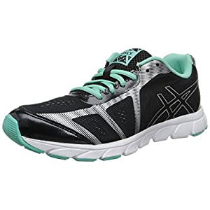 ASICS Women's Gel Havoc 2 Running Shoe,Black/Lightning/Mint,7.5 M US