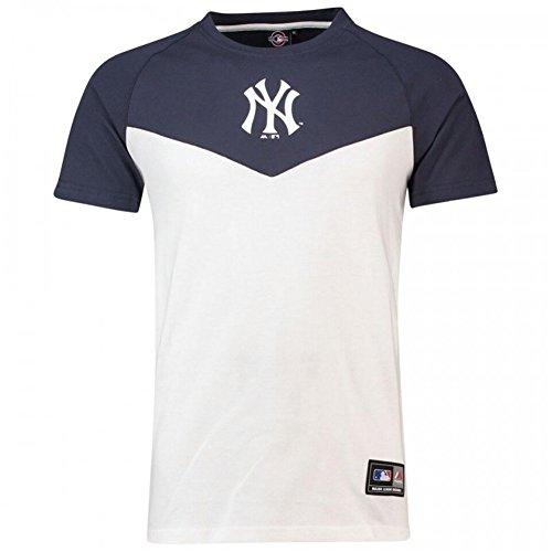 Majestic Camiseta MLB New York Yankees Klass Long Line Blanco Azul Talla  S  ( 9b095bf44eb