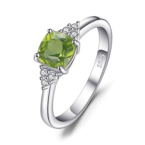 Jewelrypalace 1.2ct Cushion Cut Echte Peridot Ring 925 Sterling Silber