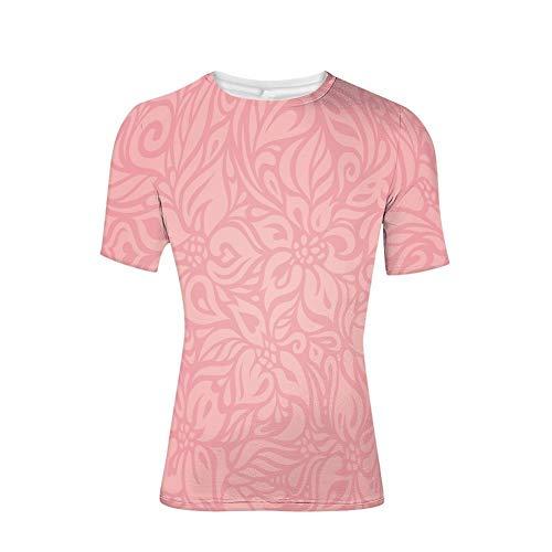 Wildblumen-shirt (T-Shirt mit kurzen Ärmeln, Wildblumen und Blättern Abstrakter Valentinstag, Cooler 3D-Druck für Herren)