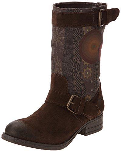 Desigual Women's Isfun Dark Brown Leather Boots - 4 Uk image
