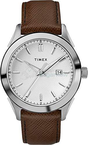 Timex Orologio Analogico Quarzo Uomo con Cinturino in Pelle TW2R90300