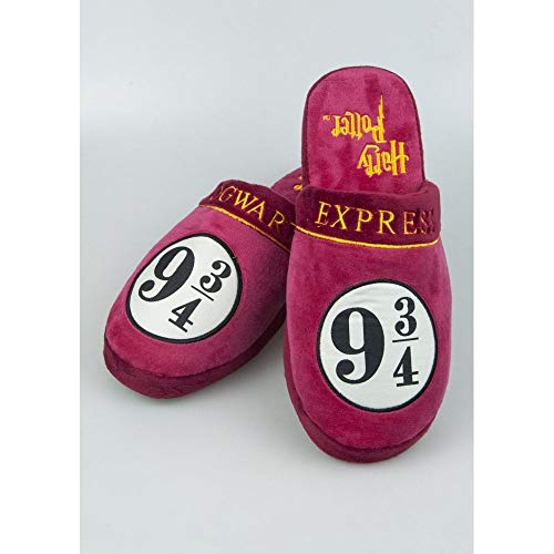 Unbekannt Harry Potter Slippers 9 3/4 Hogwarts Express Size L Groovy Calzature -