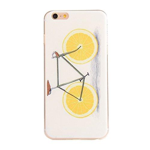 Voguecase® Pour Apple iPhone 5 5G 5S, TPU Silicone Shell Housse Coque Étui Case Cover (l'orange vélo)+ Gratuit stylet l'écran aléatoire universelle l'orange vélo