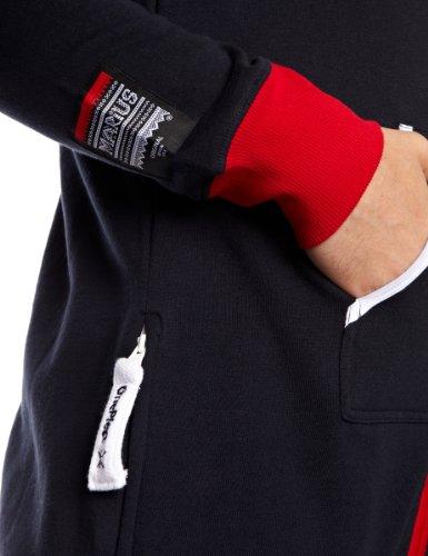 Onepiece Unisex Jumpsuit Marius, Mehrfarbig (Red/Navy/White) - 4