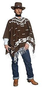 Smiffys Disfraz de Pistolero errante del Oeste auténtico, con Poncho, Chaleco con Camisa postiza y pañoleta para el Cuello