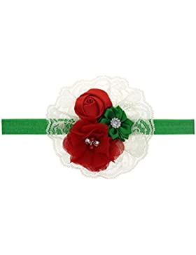 Zhhlaixing Kids Baby Girls Toddler Soft Elastic Flowers Headband Hairband Hair Accessories for Christmas/Photography...