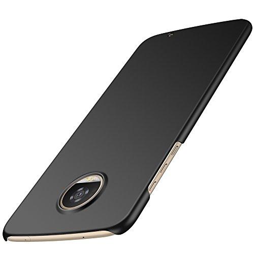 ORNARTO Moto Z2 Play Hülle,Z2 Play Ultra Dünn Schlank Stoßfest, Anti-Scratch FeinMatt Einfach Handyhülle Abdeckung Stoßstange Hardcase für Motorola Z2 Play(2017) 5.5' Schwarz
