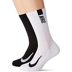 Nike U NK MLTPLIER CRW 2PR Socks, Unisex Adulto, L