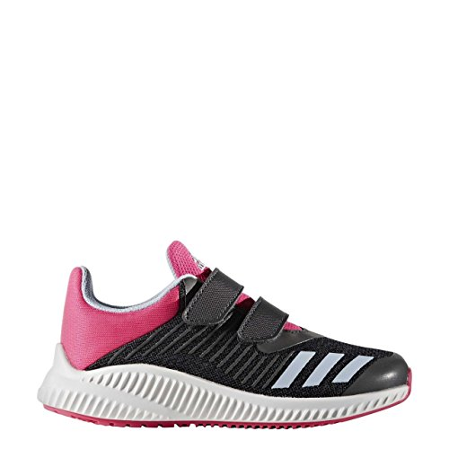 adidas Unisex-Kinder Fortarun Cf K Sneakers dark grey/easy blue s17/shock pink s16