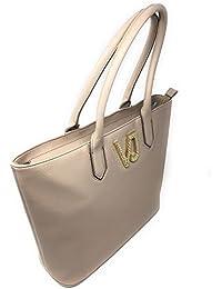 Versace - Bolso de asas para mujer Beige beige 34x9x30cm
