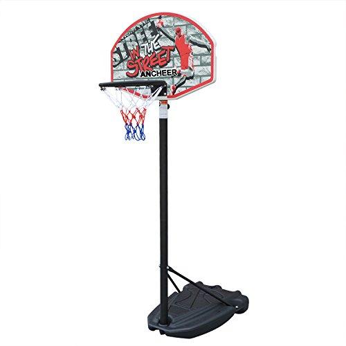 Ancheer Panier de basket-ball mobile Portable Professionnel avec panneau, 178-228CM