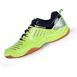 Mr. LQ - Bádminton profesional / tenis / zapatillas de tenis de mesa , green / black , 36