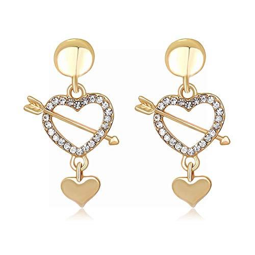 Frauen Tropfen Ohrringe Schmuck Cupid'S Arrow Einfache Ausschnitt Ohrringe ()