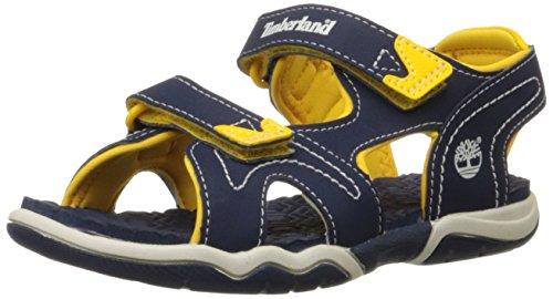 Timberland Advskr 2Strp Sandali a punta aperta, Bambini e Ragazzi, Blu (Navy/Yellow), 33