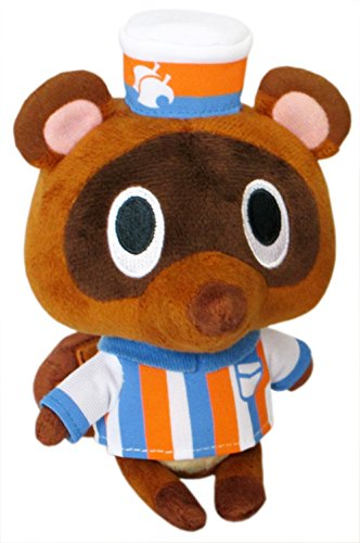 Nintendo Animal Crossing - Timmy Store Clerk with Hat - Raccoon - 14cm 5""