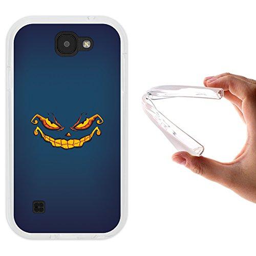 Hülle, Handyhülle Silikon für [ LG K3 2017 ] Halloween Monster Handytasche Handy Cover Case Schutzhülle Flexible TPU - Transparent ()