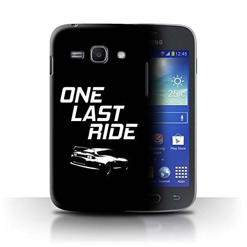 Stuff4 Custodia/Cover/Caso/Cassa Rigide/Prottetiva Stampata con Il Disegno Corse Automobilistiche Strada per Samsung Galaxy Ace 3/S7270 - One Last Ride