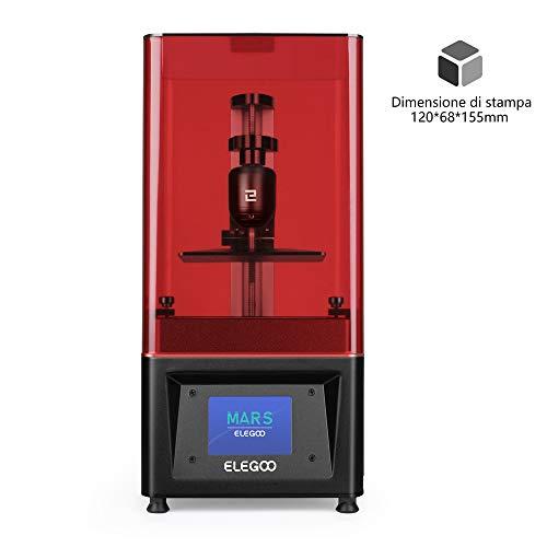 """ELEGOO Stampante 3D LCD per Fotopolimerizzante MARS UV con Schermo a Colori Smart Touch da 3,5"""" Stampa Offline 3D Printer Dimensione di stampa 4.72""""(L) x 2.68""""(W) x 6.1""""(H) -Nero"""