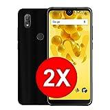 TBOC 2X Schwarz Gel TPU Hülle für Wiko View2 Pro - View 2 Pro (6.0 Zoll) [Pack: Zwei Einheiten] Ultradünn Flexibel Silikon Gehäuse für Handy [Nicht Kompatibel mit [Wiko View 2]]