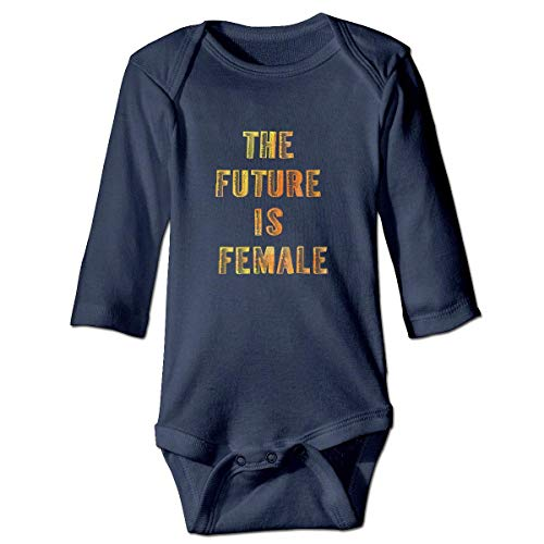 WBinHua Bodys et Combinaisons,Bertha The Future is Female Baby Boys Girls Long Sleeve Onesies Bodysuits
