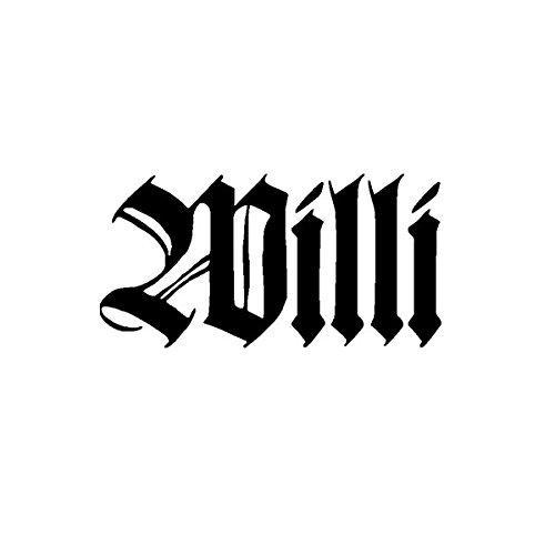 Aufkleber / Sticker - Willi Name Schriftzug Altdeutsch Geschenk Idee passend für Wohnwagen (10x5cm,...