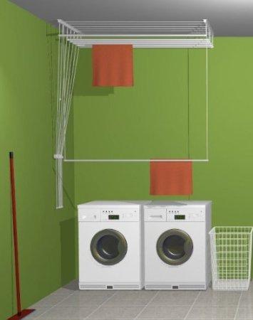 étendoir à linge suspendu au plafond ETEND'MIEUX® 5 barres 49 cm x 100 cm