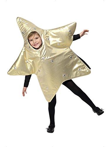 Imagen de confettery–disfraz de estrella brillante navidad mono estrellas, 104–128, 4–8años, oro