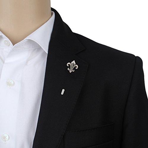 Eccellente Metal Lapel Pin, Silver Brooch