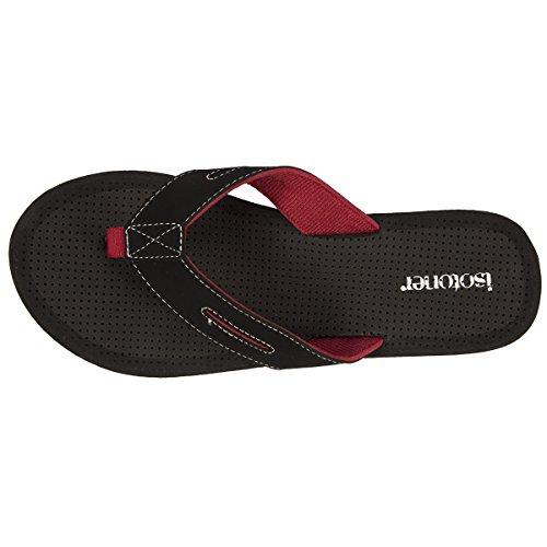 Flip-Flops Herren schwarz und rot Isotoner Noir WjoMG3ORmg
