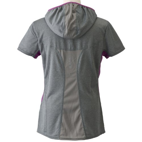 Puma T-shirt manches courtes à capuche PR_Cross_Core pour femme Gris