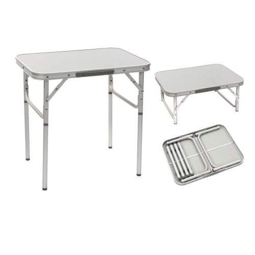 BoCamp Aluminium Tisch mit Teleskopbeinen 60x45x25-60cm, Gewicht: 2,2kg