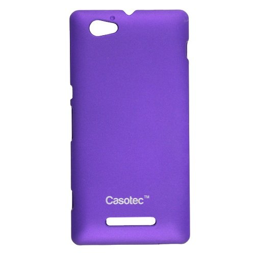 Casotec Ultra Slim Hard Shell Back Case Cover w/ Screen Protector for Sony Xperia M - Dark Purple  available at amazon for Rs.175