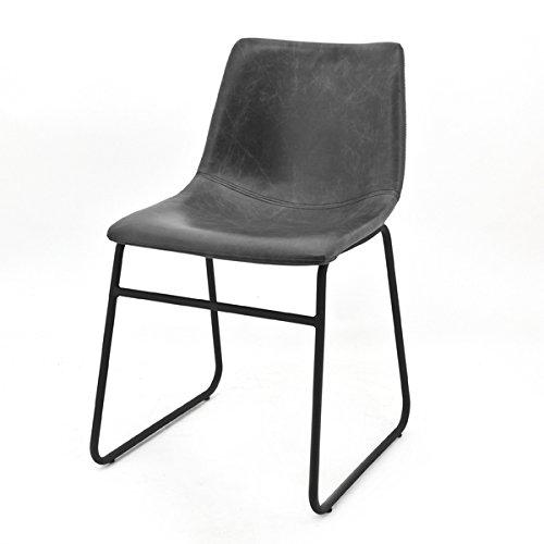 Esszimmerstuhl LOGAN Stuhl Kunstleder Esszimmer Küchenstuhl Konferenzstuhl (schwarz)