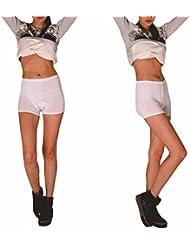 VIVOSUN Fahrrad Unterwäsche mit Sitzpolster für Damen Radunterhose Weiß mit Rosa Sitzpolster
