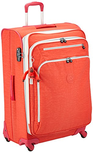 Kipling Youri Spin 78, Spinner, 78 cm, 99 liters, Pink (Coral Rose CT)
