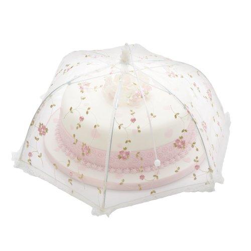 Kitchen Craft Sweetly Does It Cloche à gâteau en forme de parapluie Rose ancien 35 cm