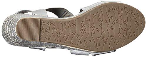 XTI - Silver Mirror Pu Ladies Sandals ., Scarpe con plateau Donna Argento (Silver)